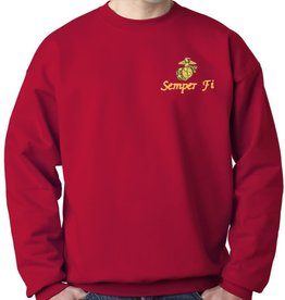 Mitchell Proffitt USMC Sweatshirt w/Logo Red Medium