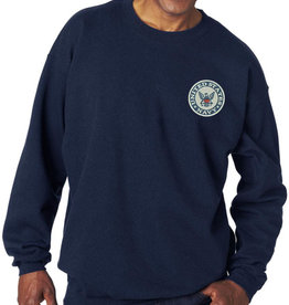 Navy Sweatshirt w/Logo Medium