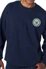 Navy Sweatshirt w/Logo Large