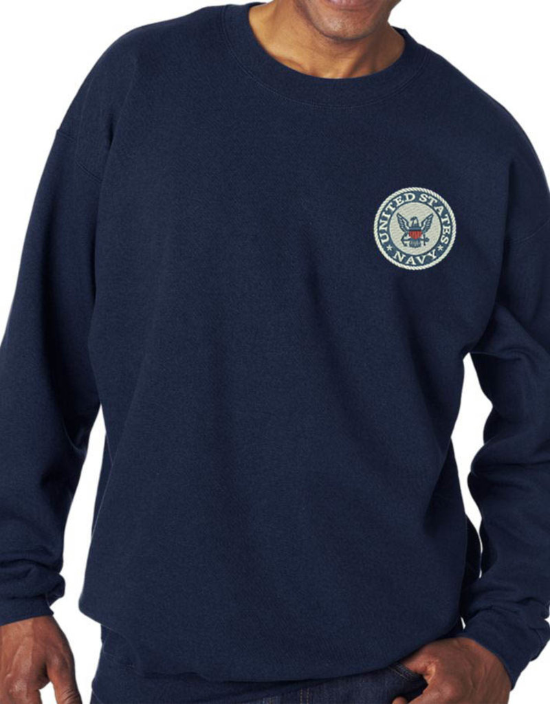 Navy Sweatshirt w/Logo 2XL