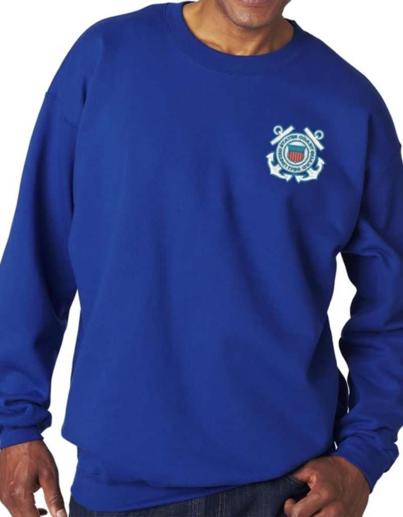 Coast Guard Sweatshirt w/Logo Blue Large