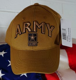Army w/ Star Baseball Cap (Coyote Brown)