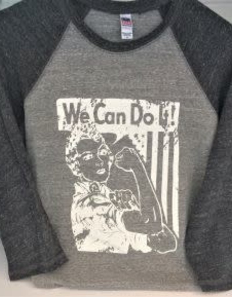 Rosie The Riveter Baseball Raglan Sleeve
