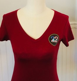 Stop 22 Women's V Neck TShirt Medium