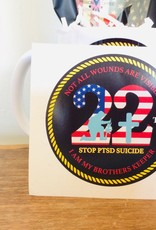 """Stop the 22 a Day Stop 22 3"""" Decal"""