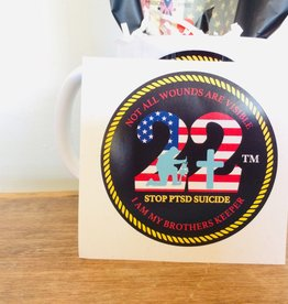 "Stop the 22 a Day Stop 22 3"" Decal"
