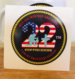 "Stop 22 4"" Decal"