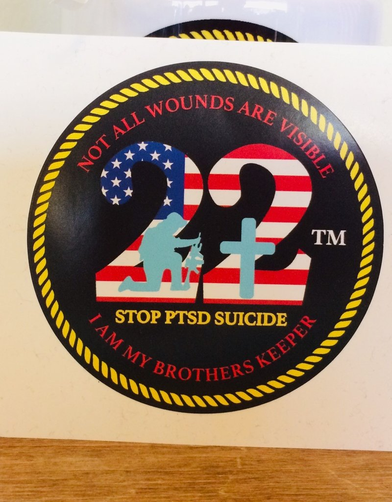 """Stop 22 4"""" Decal"""