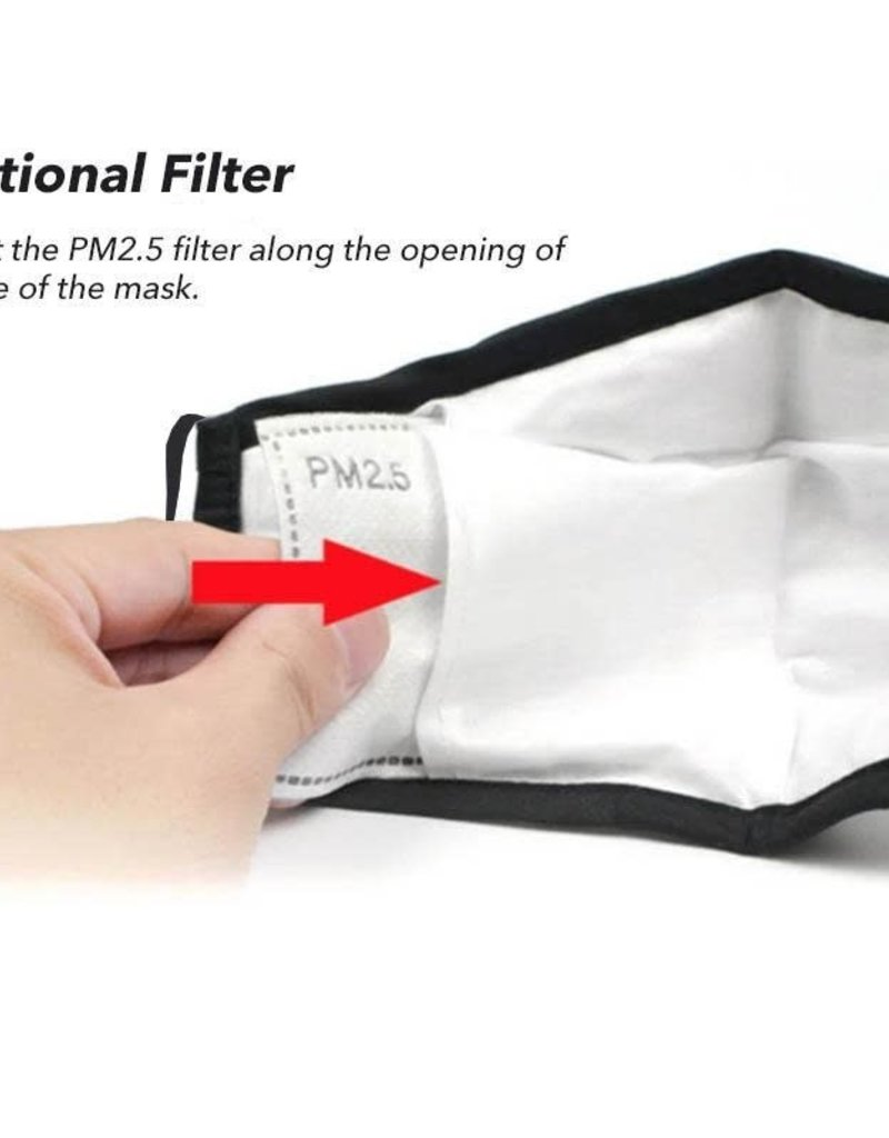 PM2.5 Activated Carbon Filters (10 Pk) Insert, for TL Masks