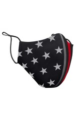 Thin Blue Line USA Thin Red Line Face Mask One Size