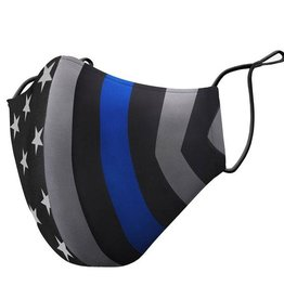 Thin Blue Line Face Mask One Size