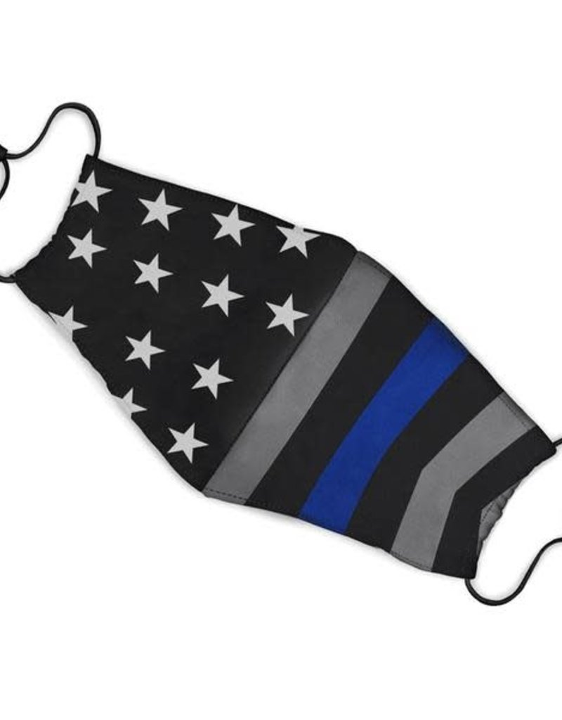 Thin Blue Line USA Thin Blue Line Face Mask One Size