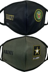 AE Sports Army Crest and Star 2 Pack Face Masks