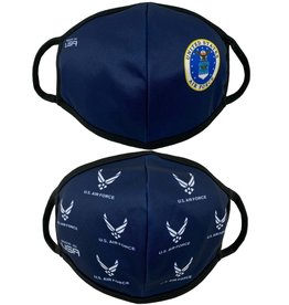 USAF Crest and Allover 2 Pack Face Masks