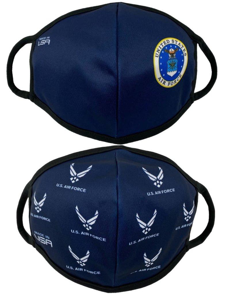 USAF Crest and Allover 2 Pack Face Masks