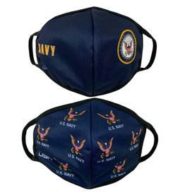US Navy Crest and Allover 2 Pack Face Masks