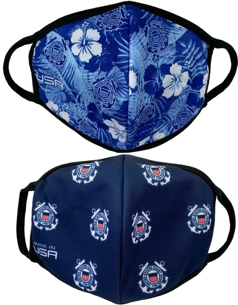 USCG Crest and Allover 2 Pack Face Masks