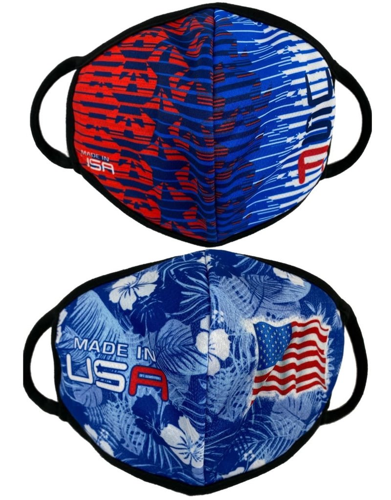 USA and Stars 2 Pack Face Masks