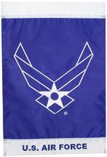 """Mitchell Proffitt Airforce 12""""x18"""" Embroidered Nylon Garden Flag"""