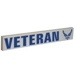 "Mitchell Proffitt VETERAN with U.S. Air Force Symbol 15.5""x2.5"" Wood Sign"
