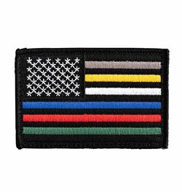Thin Blue Line USA First Responder Patch