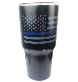 Thin Blue Line USA Thin Blue Line Distressed American Flag Insulated Mug, 30oz