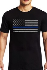Thin Blue Line USA Thin Blue Line American Flag Classic T-Shirt Black XXL