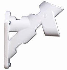 """1"""" White Aluminum Bracket ( 2 POS )"""