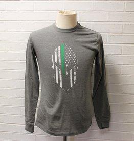 Spartan Green Line T-Shirt Long-Sleeve