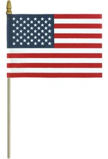 Eder Flag USA No Fray Fabrication with Gold Spear