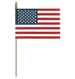 USA No Fray Fabrication with Gold Spear