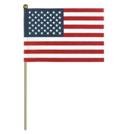 USA No Fray with Gold Ball Top Stick Flag