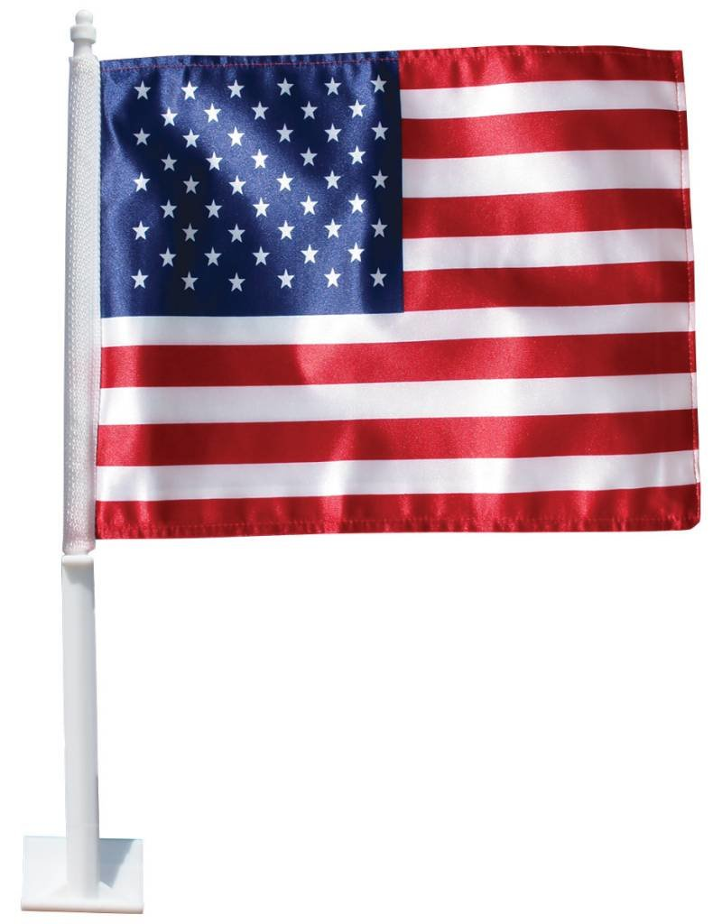 "USA 11.5""x14"" Polyester Auto Window Flag"