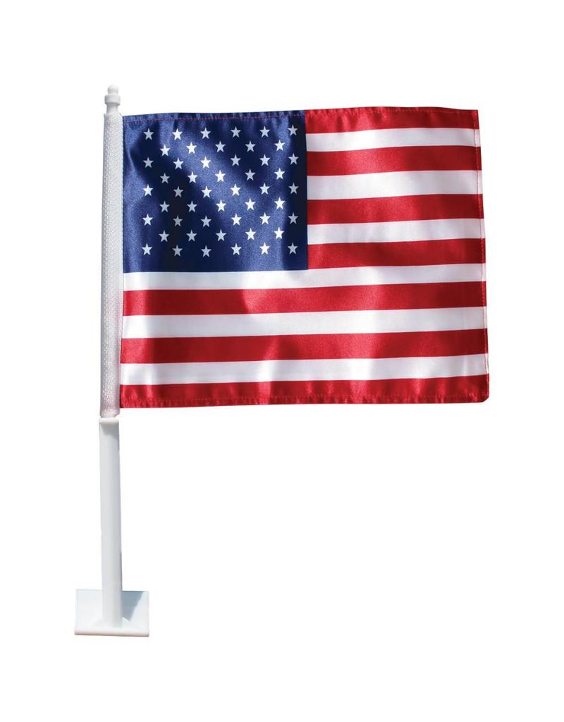 "USA 11.5""x14"" Polyester Auto Window Flag"