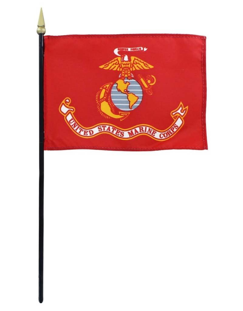 USMC Endura-Gloss Stick Flag