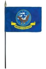 Navy Endura-Gloss Stick Flag