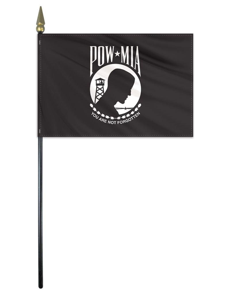 """POW MIA Endura-Poly 12x18"""" Stick Flag"""