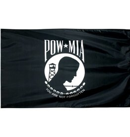 POW MIA Single Face Nylon Flag