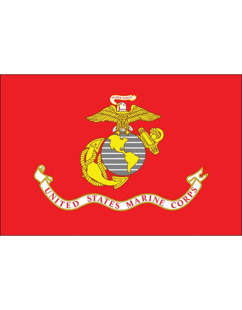 United States Marine Corps with Grommets Flag