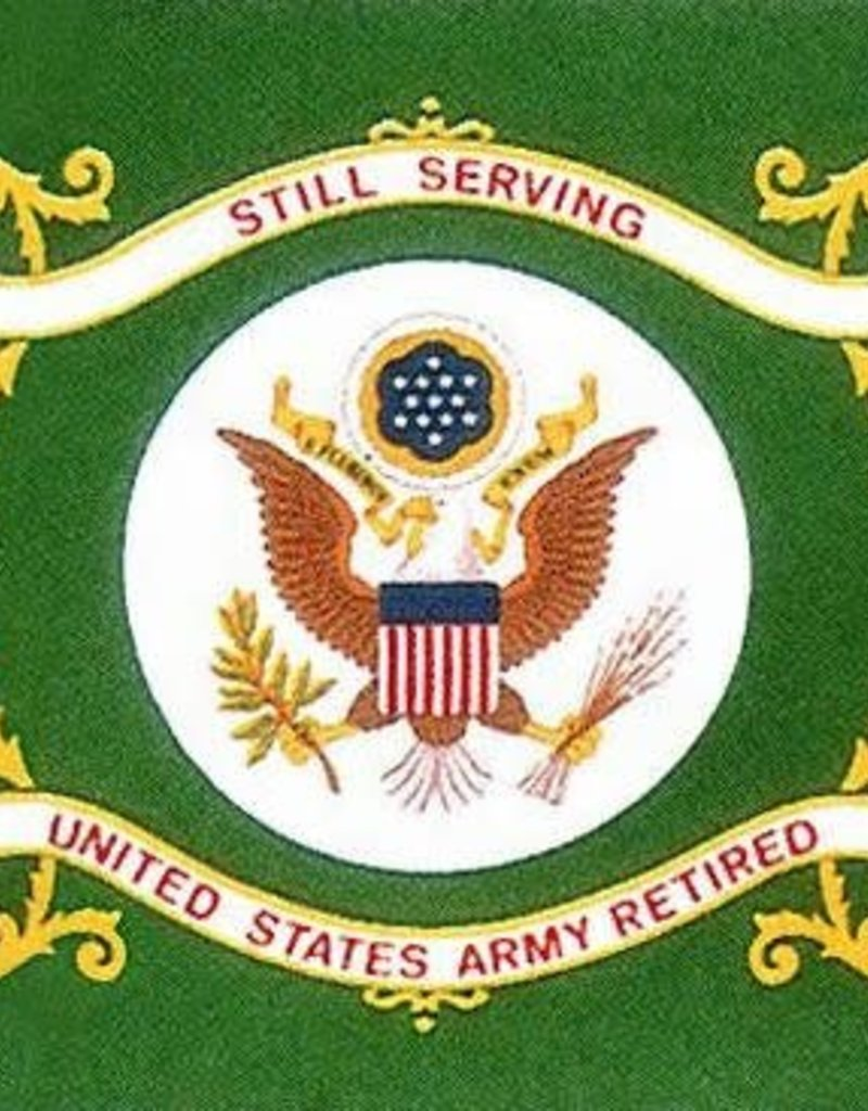 Army Retired Nylon Flag