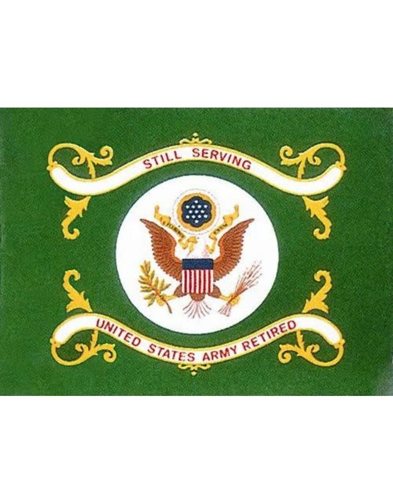 Army Retired Nylon Flag