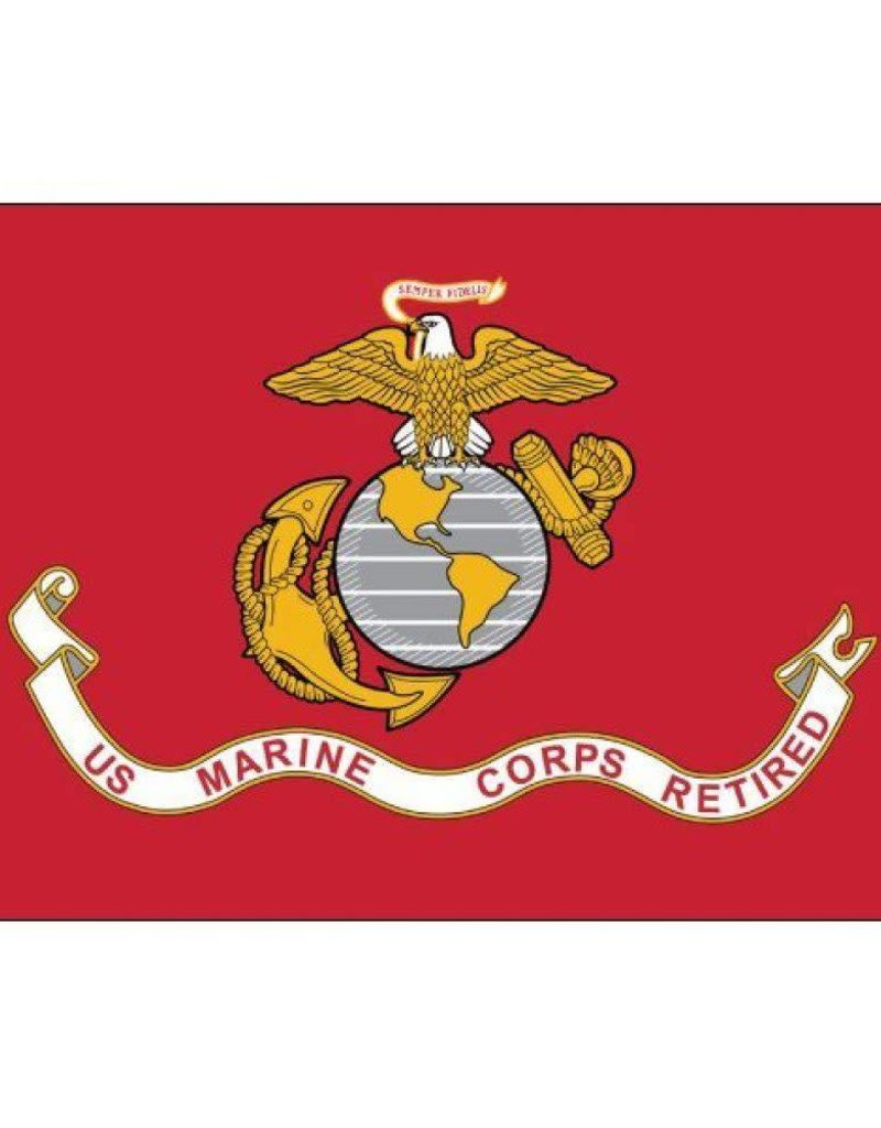 United States Marine Corps Retired 3x5' Endura-Polyester Flag