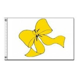 Yellow Ribbon Nylon Flag
