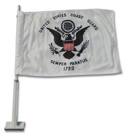 Coast Guard Auto Window Flag