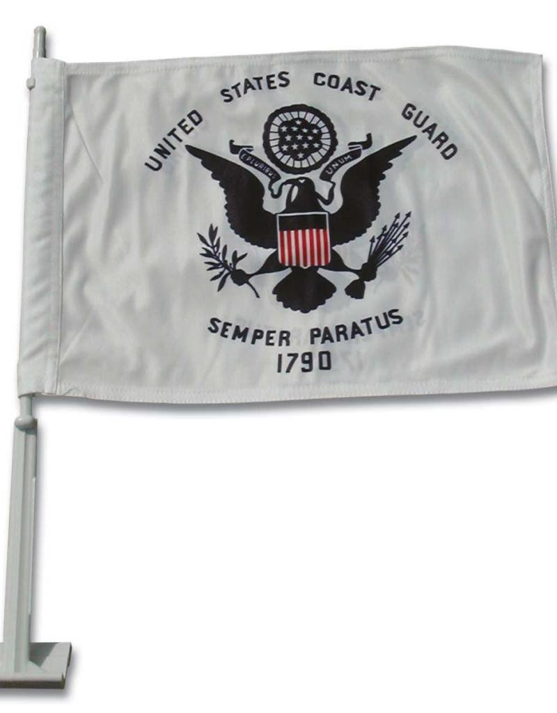 United States Coast Guard Auto Window Flag