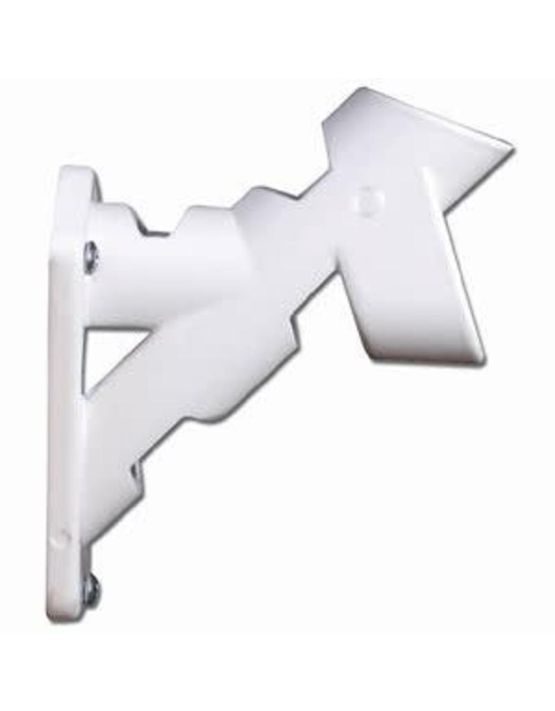 "1"" White Cast Aluminum Bracket (2 POS)"