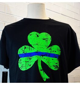 Thin Blue Line Shamrock T-Shirt