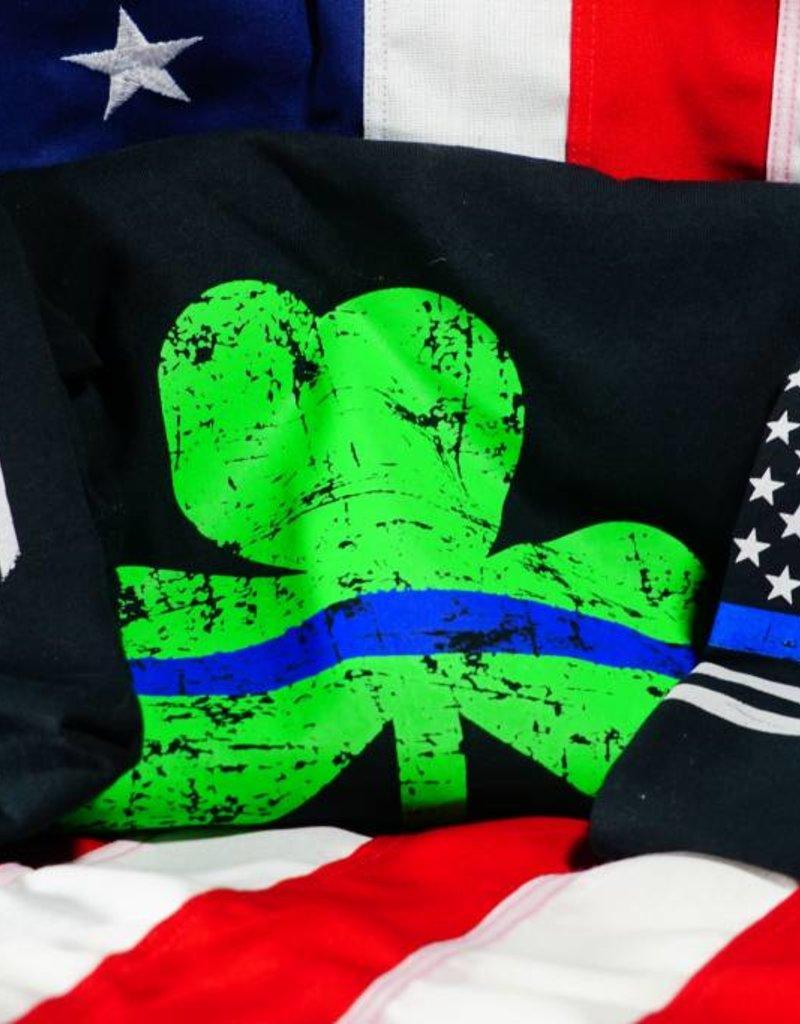 Thin Blue Line Shamrock T-Shirt