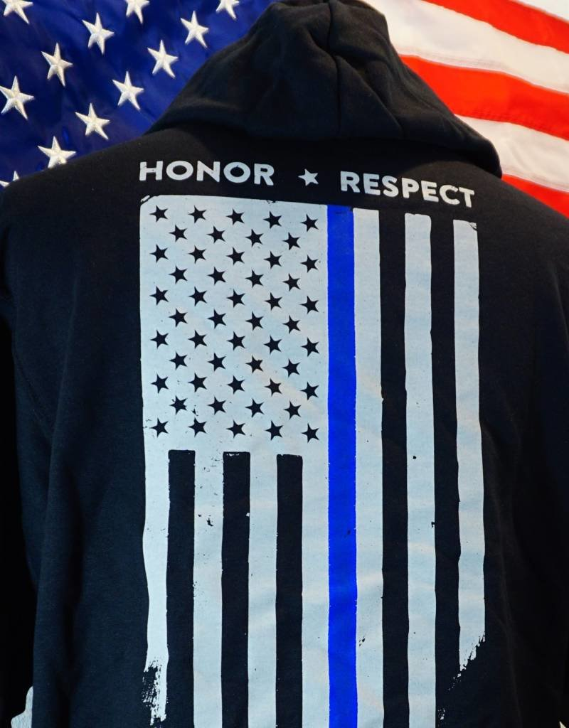Thin Blue Line Honor Respect Hoodie