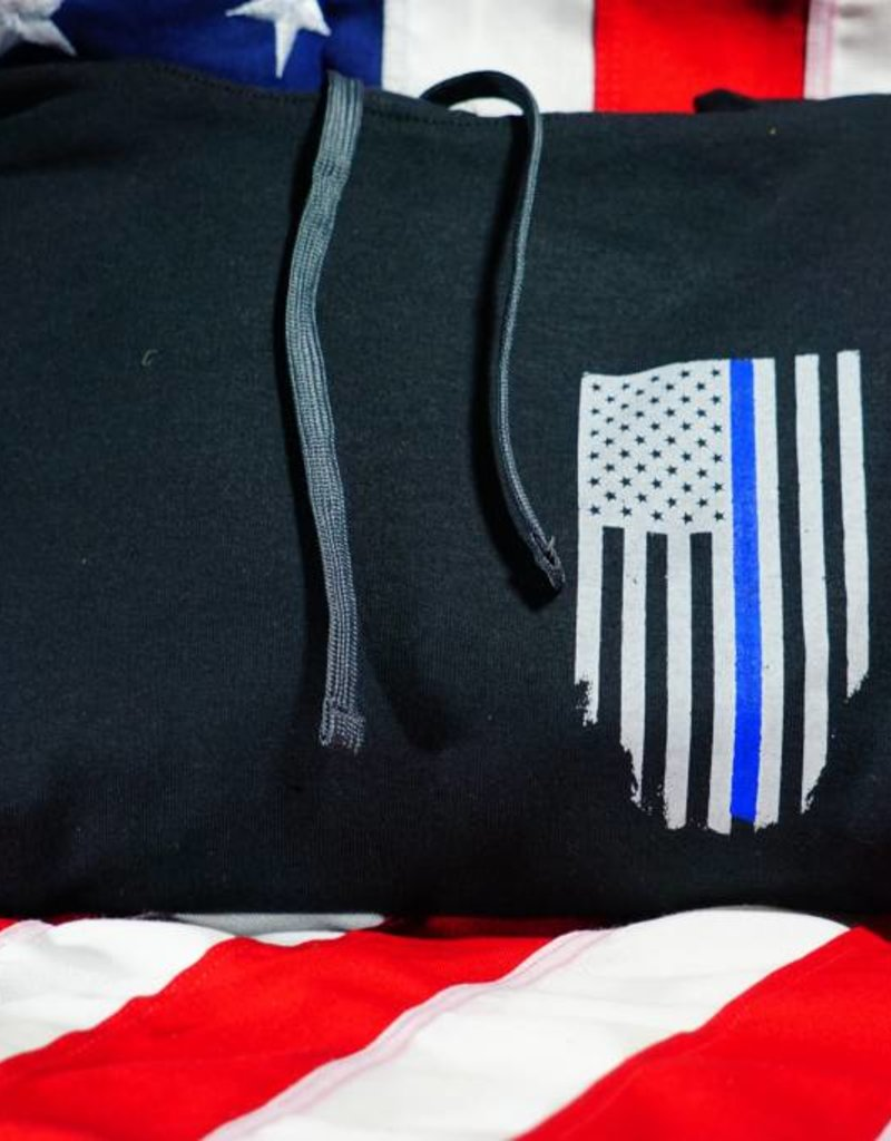 Thin Blue Line USA Thin Blue Line Honor Respect Hoodie